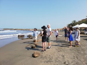 Perspective class on the beach during our art workshop in South America the perfect winter getaway