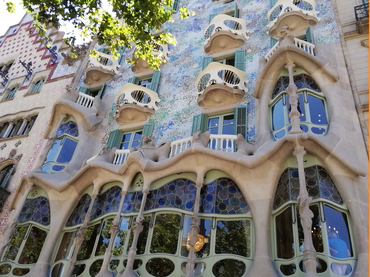 View of Casa Batlo during Walk the Arts Art Tour in Barcelona Spain