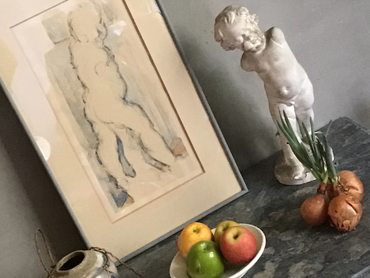 Sculpture from Cézanne's studio during our landscape painting workshops in France