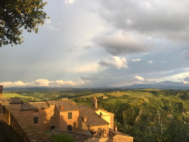 View of Tuscany during our painting holidays in Italy for all levels and mediums