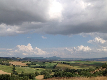View of Tuscany during our art holidays in Italy