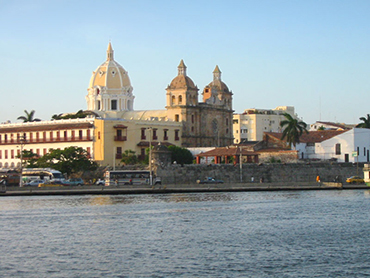 View of Cartagena during our art workshop in South America for all levels and foodies