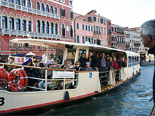 Taking a vaporetto ride during art trip Italy and Venice Biennale