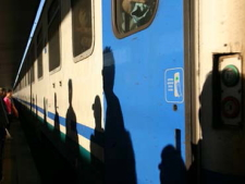 Taking a train from Florence to Arezzo during our art retreat in Tuscany
